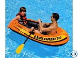 Intex Portable Travel Explorer Rubber Boat with French Oars