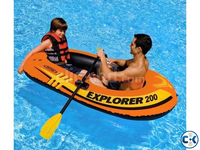 Intex Portable Travel Explorer Rubber Boat with French Oars | ClickBD large image 0