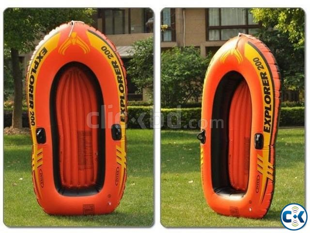 Intex Portable Travel Explorer Rubber Boat with French Oars | ClickBD large image 1