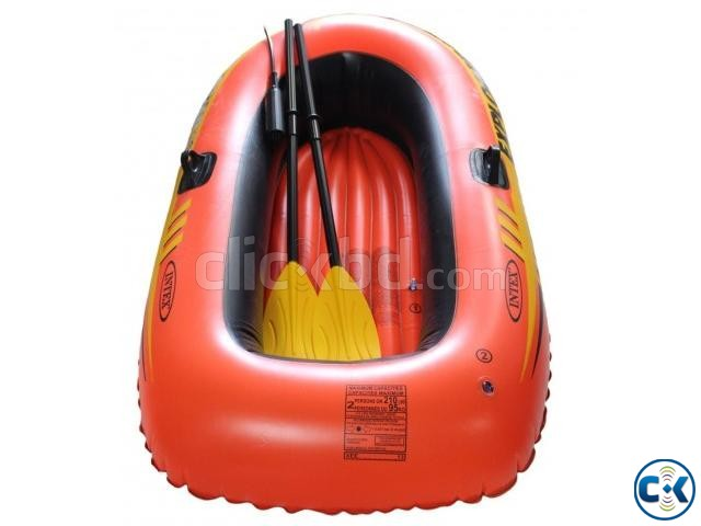 Intex Portable Travel Explorer Rubber Boat with French Oars | ClickBD large image 2