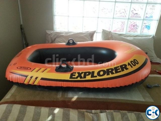 Intex Portable Travel Explorer Rubber Boat with French Oars | ClickBD large image 3