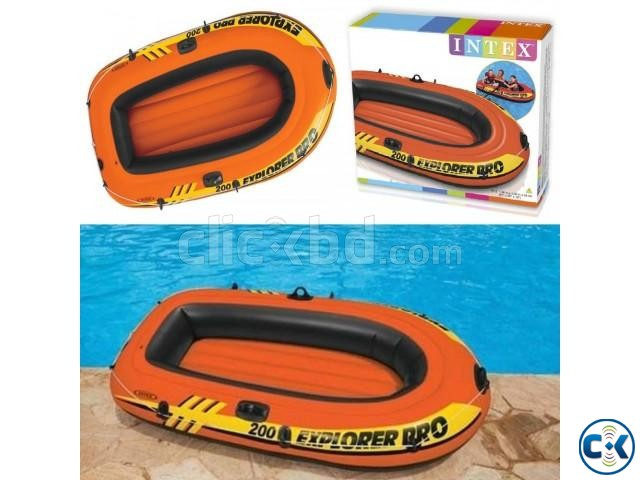 Intex Portable Travel Explorer Rubber Boat with French Oars | ClickBD large image 4