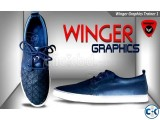 Winger Graphics Trainer Shoe 1