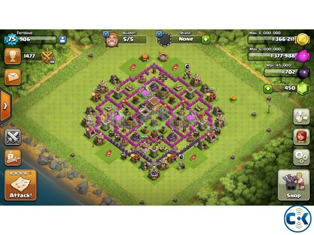 90 max Town Hall 8 base | ClickBD large image 1