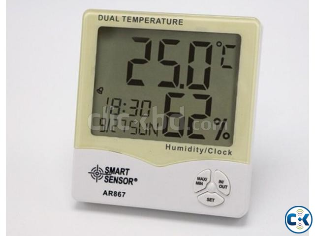 SMART SENSOR Dual Temperature Humidity Meter | ClickBD large image 1