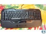 ROCCAT ISKU Blue Key Illuminated Gaming Keyboard Black