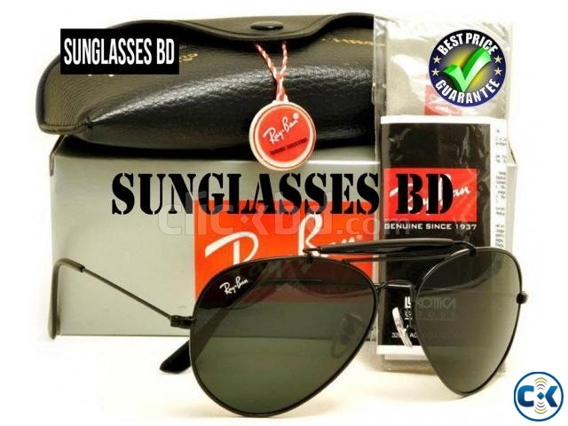 Ray Ban - Outdoorsman Black Frame and Dark Green Lens | ClickBD large image 0