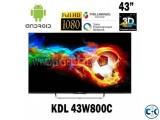 Sony Bravia W800C 43 Inch 3D Wi-Fi LED Full HD Television