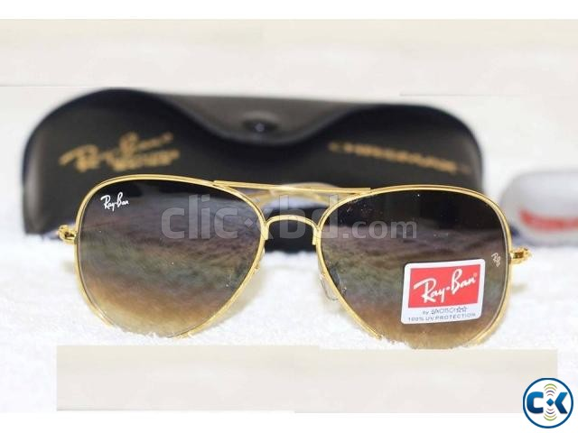 Ray Ban Gents Shades Golden Sunglass Replica SW4052 | ClickBD large image 0