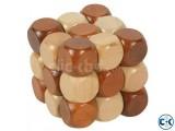 3D Wooden mind game Puzzle Cube