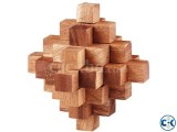 STAR Wooden Cube Puzzle-NOT an easy puzzle to solve