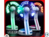 Custom Programmable usb Advertising led Text Fan