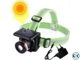 Solar Waterproof Focus Headlamp Camping Hiking Flashlight