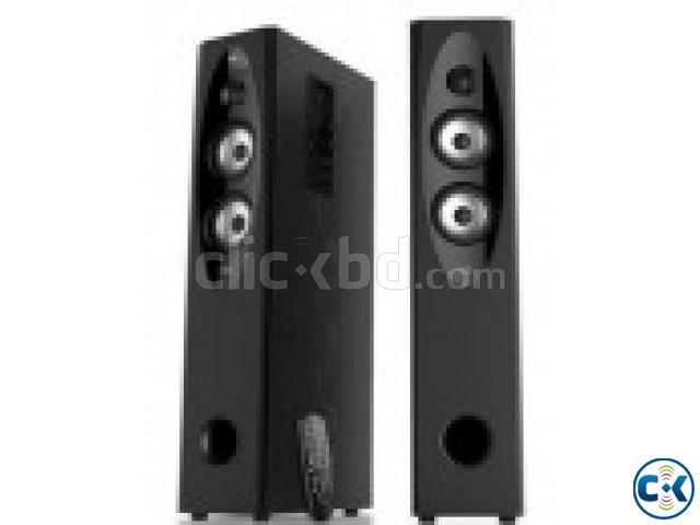 F D T-60X Full Range 110W 2CH Bluetooth NFC Tower Speaker | ClickBD large image 0