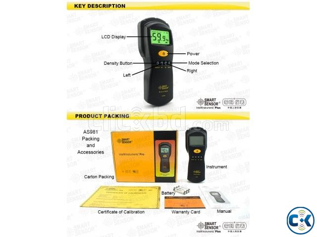 AS981 Digital Moisture Meter Measure Contented Moisture | ClickBD large image 3