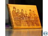 wooden sketch laser engrave giant