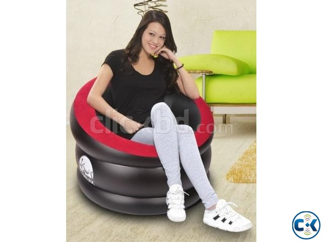 Portable Comfort Single Round Sofa FREE Pumper | ClickBD large image 0
