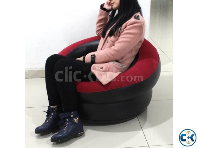 Portable Comfort Single Round Sofa FREE Pumper | ClickBD large image 1