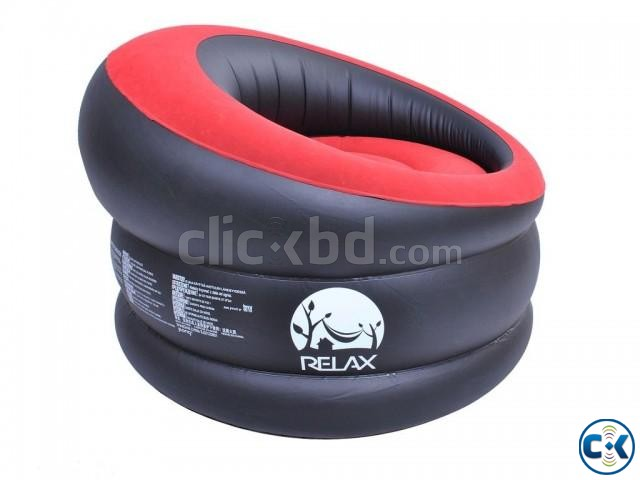 Portable Comfort Single Round Sofa FREE Pumper | ClickBD large image 2