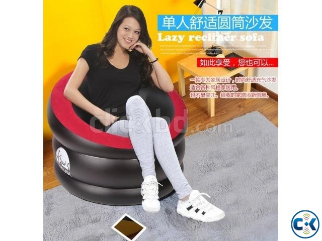 Portable Comfort Single Round Sofa FREE Pumper | ClickBD large image 4