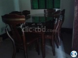 a full fresh dining table for sale