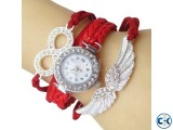 Women s Red Bracelet Wrist Watch
