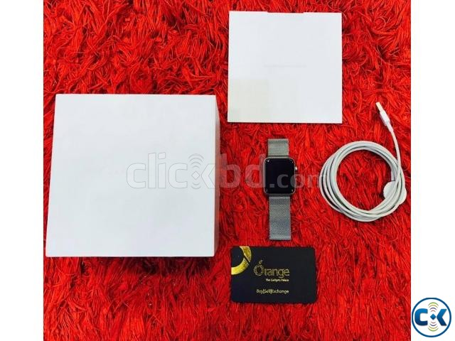 Apple watch 42mm stainless steel with milanese loop full box | ClickBD large image 1