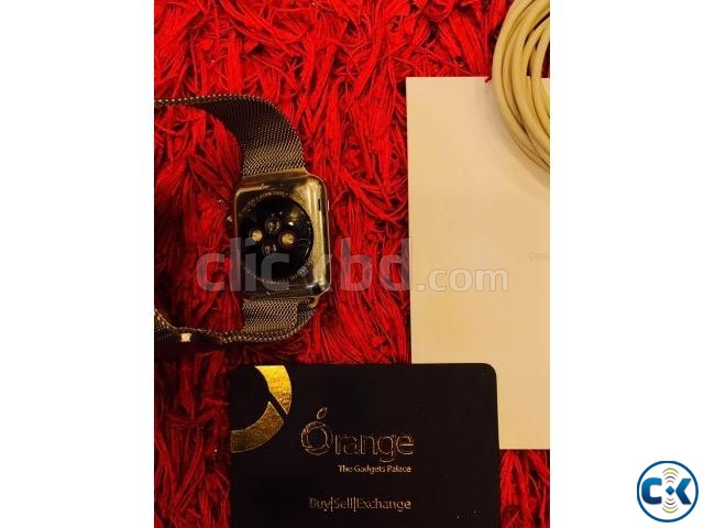 Apple watch 42mm stainless steel with milanese loop full box | ClickBD large image 2