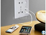 Universal Socket with usb mobile charging port