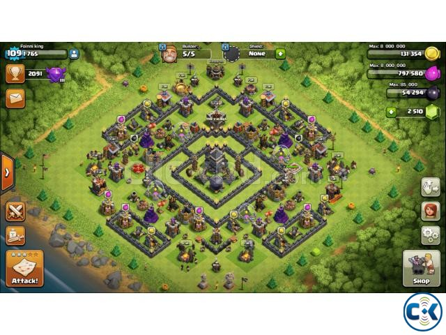 Clash of Clans TH Town Hall 9 Full Max | ClickBD large image 0