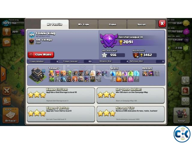 Clash of Clans TH Town Hall 9 Full Max | ClickBD large image 1