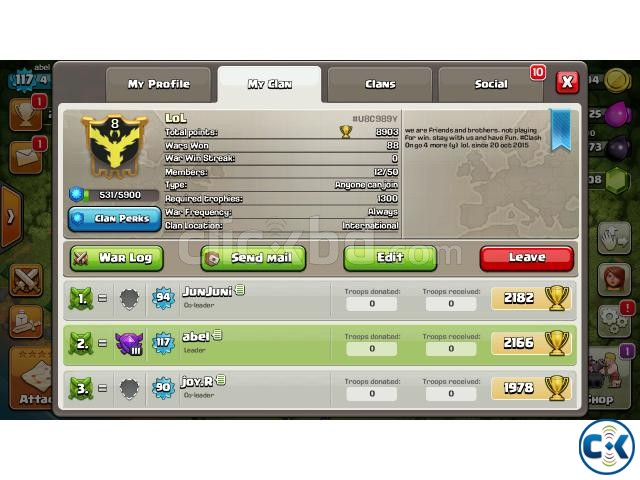 Clash of clan s CLAN level 8 | ClickBD large image 0