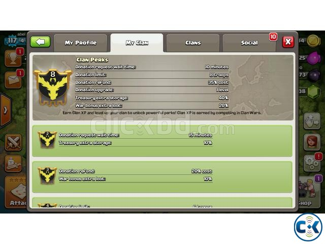 Clash of clan s CLAN level 8 | ClickBD large image 1