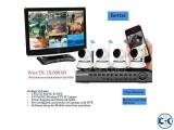 4 Pcs IP Camera Kit Full HD Wi-Fi