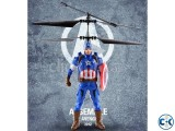 Flying Captain America Electric Rc Sensor Helicopter