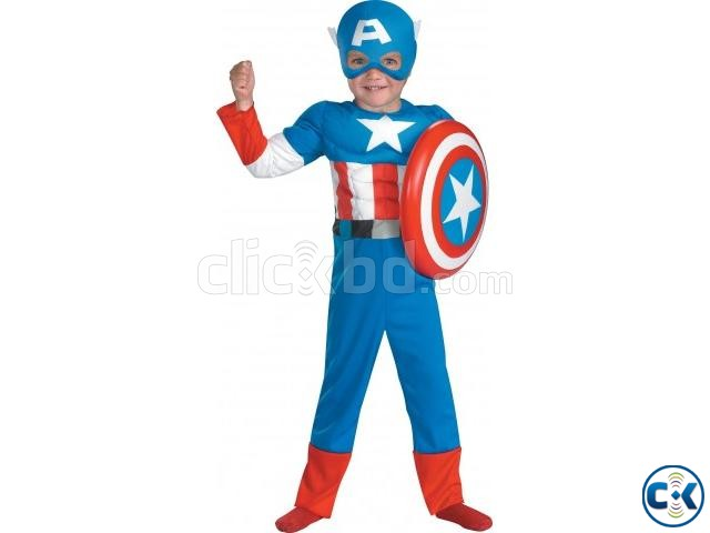 Captain America Costume kids dress | ClickBD large image 0