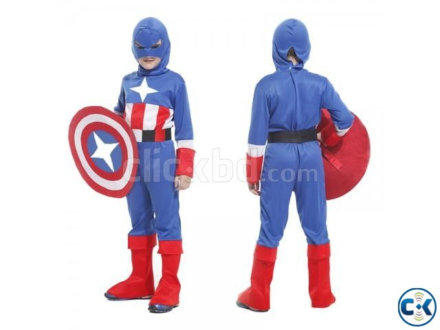 Captain America Costume kids dress | ClickBD large image 1