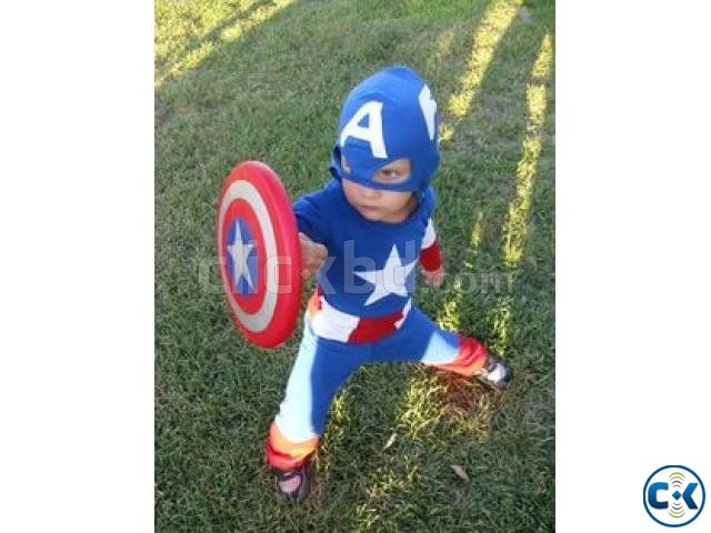 Captain America Costume kids dress | ClickBD large image 2