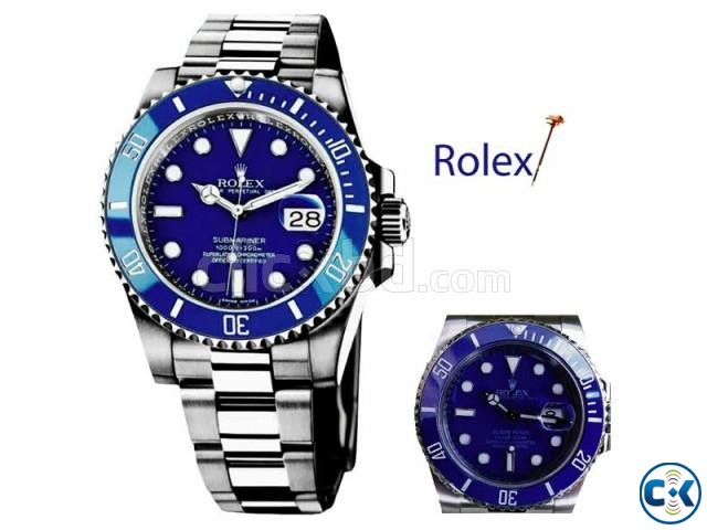 ROLEX SUBMARINER MENS WATCH WITH DATE FUNCTION | ClickBD large image 0