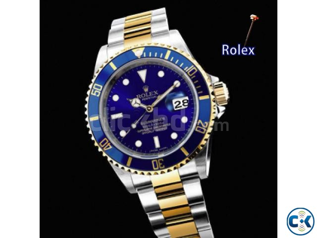 Rolex Oyster Chain with Blue Dialer | ClickBD large image 1