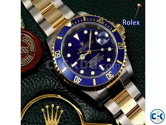 Rolex Oyster Chain with Blue Dialer | ClickBD large image 2