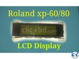 Roland xp -60 80 lcd display