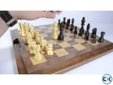 Wooden Chess Checkers Backgammon set Large size