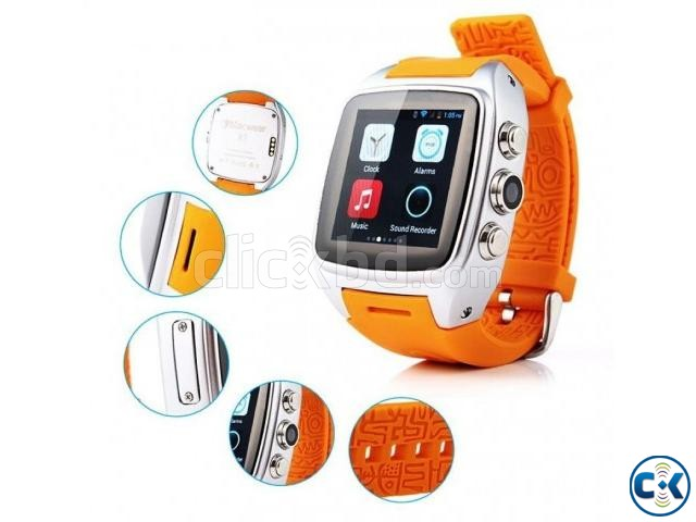 Smart X01 Android Watch Phone | ClickBD large image 3