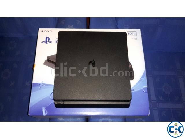 PS 4 SLIM NEW with 2 games | ClickBD large image 1