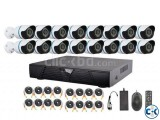 16 PCs CCTV Security Camera Systems Complete Setup