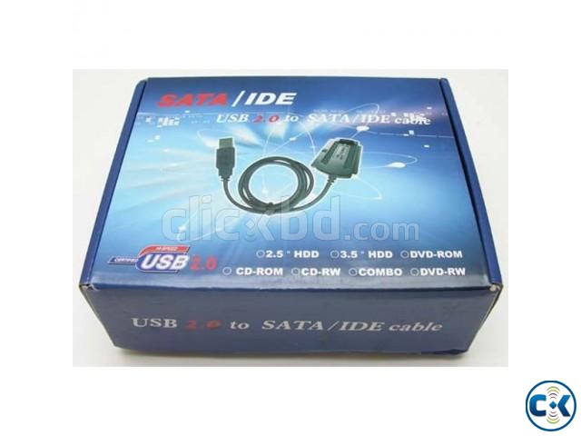 USB 2.0 To SATA IDE Adapter Cable 3.5 2.5 | ClickBD large image 0