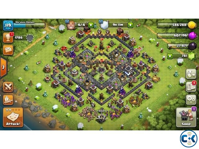 Clash of clan town hall 9 max for sale | ClickBD large image 1