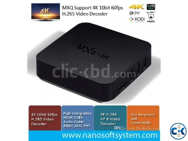 MXQ 4K Smart TV Box KODI 4K Android Media Player | ClickBD large image 1