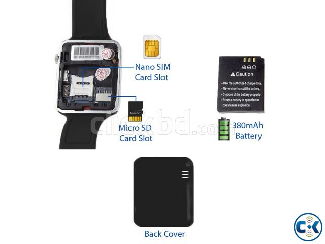 APPLE i-watch COPY A1 Smart Watch Mobile Watch With SIM CARD | ClickBD large image 0